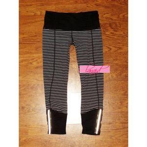 lululemon athletica Pants - Lulu Runday Crop Parallel Stripe Skinny Pant Quiet